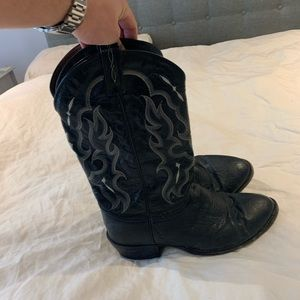 Tony Lama Smooth Quill Ostrich Cowboy Boots